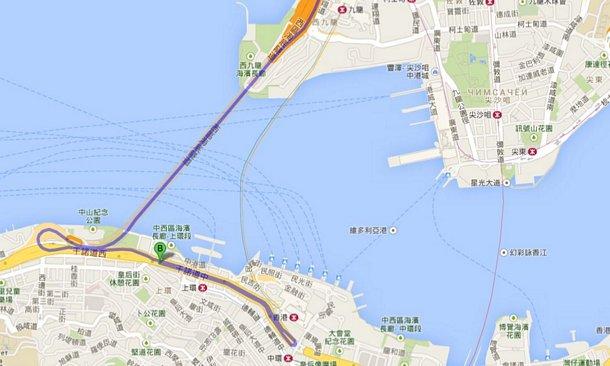 Карта Коулун-о.Гонконг