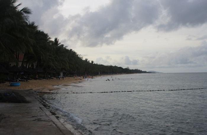 Начало пляжа