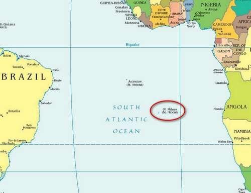 Карта остров Елена