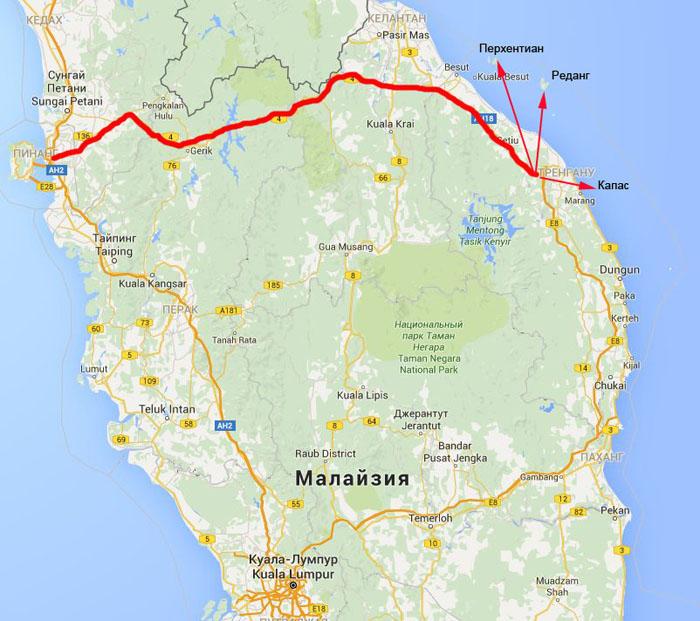 map-Тренгану