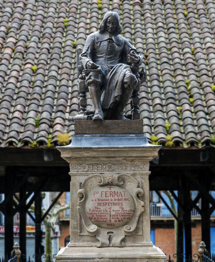 Beaumont-de-Lomagne - Monuement à Fermat