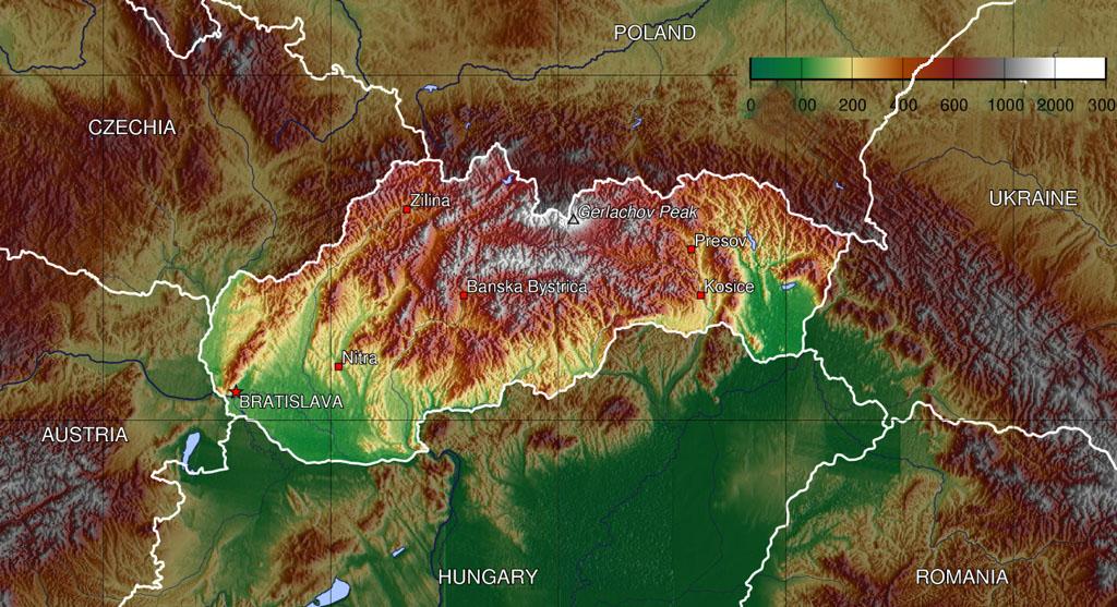 Slovakia_topo