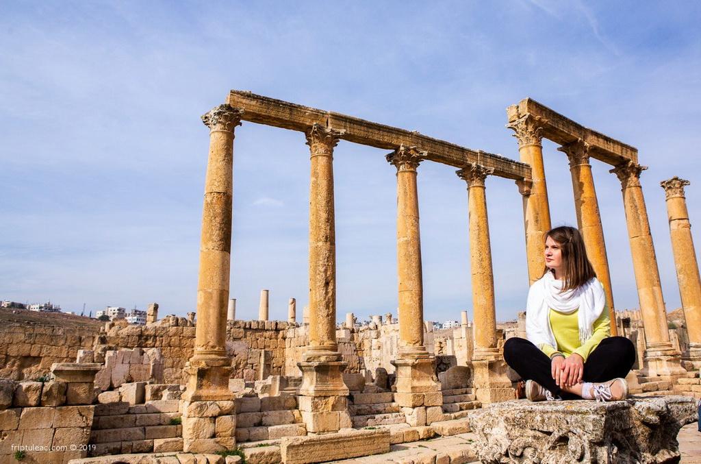 Jerash city in Jordan, ruins of the walled Greco-Roman settlement-6239