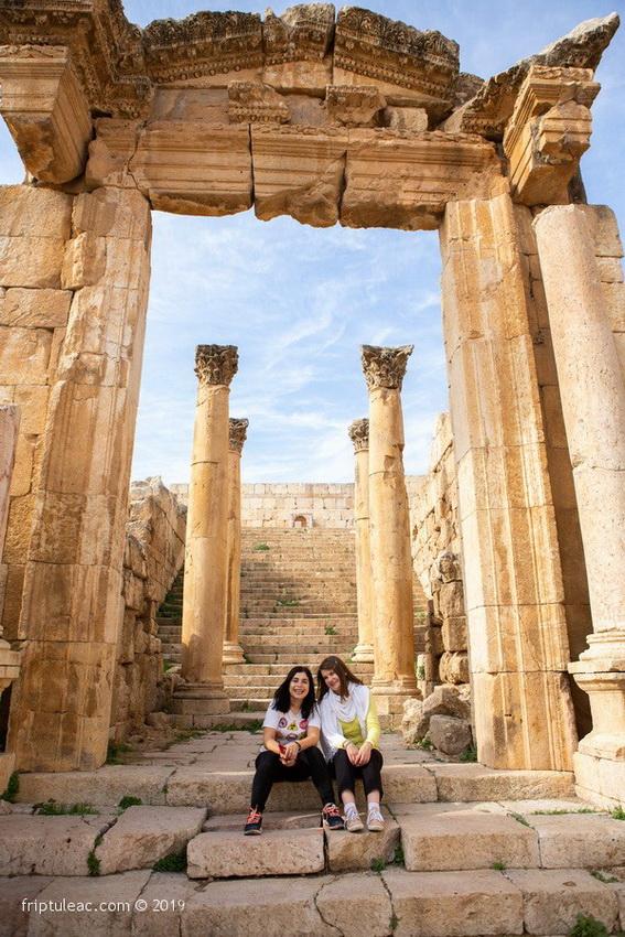 Jerash city in Jordan, ruins of the walled Greco-Roman settlement-6254