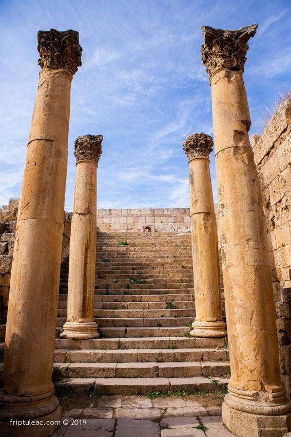 Jerash city in Jordan, ruins of the walled Greco-Roman settlement-6259