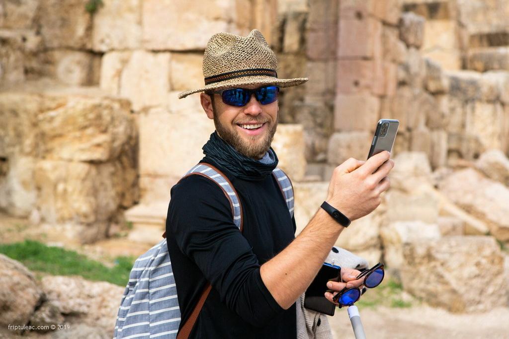 Jerash city in Jordan, ruins of the walled Greco-Roman settlement-6317