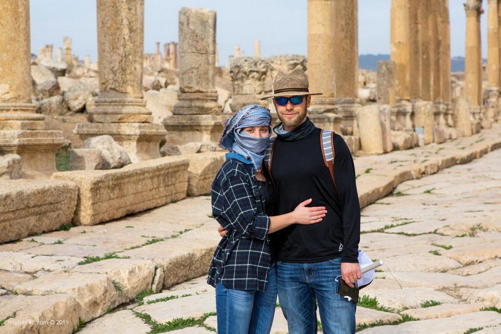 Jerash city in Jordan, ruins of the walled Greco-Roman settlement-6355