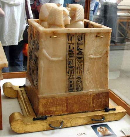 Ящик дл� каноп. Сторона 1. Гробница Тутанхамона.
