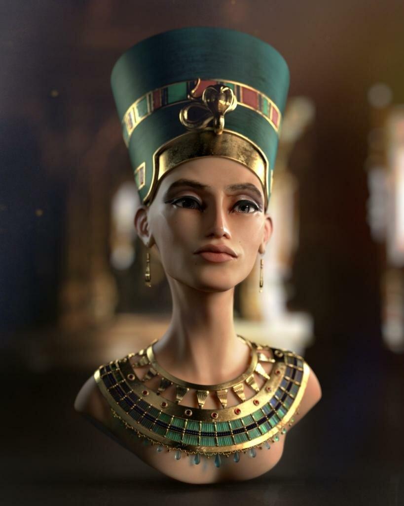 Нефертити - «главная супруга» древнеегипетского фараона XVIII династии Нового царства Эхнатона.