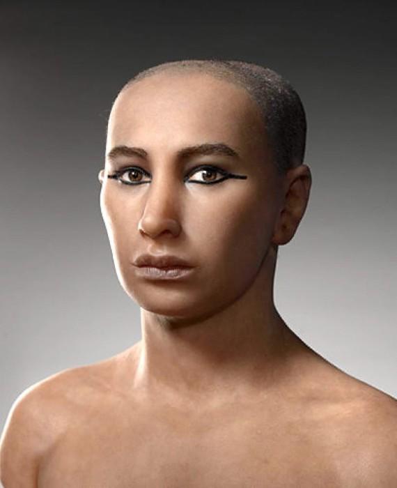 Созданный на основе реконструкций лица, сделанных с помощью компьютерного сканирования мумии фараона.