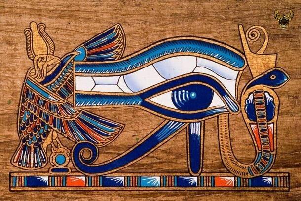 Знаменитый глаз Гора, изображенный на куске папируса (Jose Ignacio Soto / Adobe Stock )